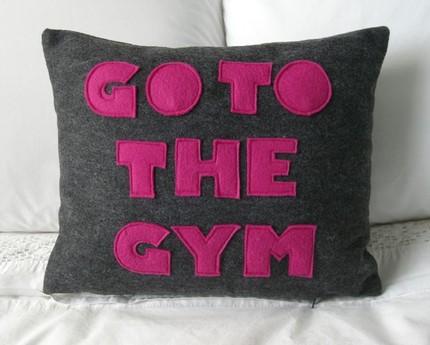 Almohada 've al gimnasio' :)