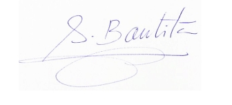 Firma de Antonia Bautista
